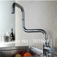 Wholesale kitchen brass chrome sink faucet mixer tap deck mounted swivel spout