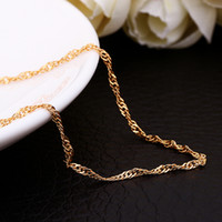 asian wave - Top quality K gold plated mm inches wave chain necklace fashion jewelry wedding gift for woman