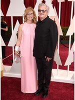apple mark - 2015 Oscar Mark Mothersbaugh Anita Greenspan Red Carpet High Neck Celebrity Dress Pink Mother of Bride Dresses Evening Prom Party Dresses