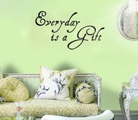 Wholesale Art Removable Lettering Everyday is a Gift home decoration wall art decals living room decorative stickers bedroom wallpaper