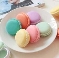 Bon Marché Bijoux mignons-Deux taille douce d'anniversaire Mignon Bijoux bonbons Macaron Mini Case boîte de rangement de maquillage cosmétique cadeau du jour de Valentine # 71749 Conteneurs