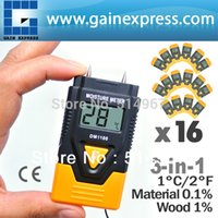 Wholesale 16 pieces x in Digital Mini Pin Wood Building Hard Materials Moisture Meter Concrete Plaster Mortar Timber Paper of