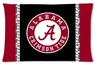 alabama case - NCAA Alabama Crimson Tide Logo Stripe Custom Decorate Rectangl Pillow Cases Cotton High Quality Standard Size