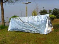 Wholesale New Outdoor First Aid Survival Emergency Shelter Tents Aluminized Film Camping Hiking Rescue Safety Blanket Tent L