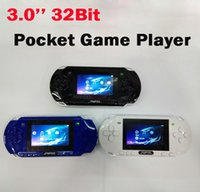 Cheap PMP2S 3.0 inch 32Bit Handheld Pocket Video Game Player With 2GB MP3 MP4 MP5 Fuction game Players Console System Games with ratil box