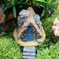 Wholesale 2016 Stone House Fairy Garden Miniature Craft Micro Cottage Landscape Decoration Four Style For DIY Resin Crafts Decoration