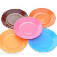 Wholesale 2015 Candy Color New Colorful Plastic Kitchen Cooking Dish Dinnerware Snacks Fruit Dessert
