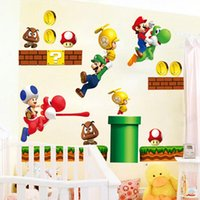 Wholesale Super Mario Bros Kids Vinyl Mural Wall Decals Sticker Room Decor Nursery WS