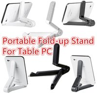 Wholesale Universal Portable Adjustable Fold up Stand Holder for iPad mini air Samsung Galaxy Table PC With Retail Package DHL Free