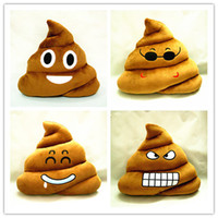 Wholesale Cushion Emoji Pillow Gift Cute Shits Poop Stuffed Toy Doll Christmas Present Funny Plush Bolster Cojines Pillows Cushions sofa cushion CM