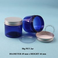 cosmetic containers - G Blue PET Facial Cream Jar Plastic Cosmetic Container Makeup Canister Sample Mask Sub bottling Jar