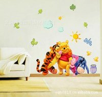 winnie the pooh - Winnie the Pooh Tigger second generation children s room sofa background decorative wall stickers stickers