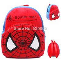 Wholesale Cute Cartoon Spiderman Baby Boys Mini Soft Plush Backpack Kids Children School Bags mochila infantil menino mochilas escolares
