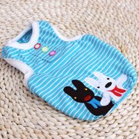 apparel clearance - Clearance Fashionable Dog Clothes Dog stripe sports vest Pet Clothing Pet Apparel Spring Summer Size XS XL