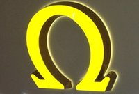 Wholesale Facelit and backlit led channel letters signs business storefront signage double illumianted yellow color or any color
