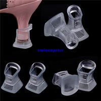 Wholesale 50 pairs Silicone High Heel Protectors shoe heel covers anti slip high heels clear stiletto high heel protectors covers shoes stoppers