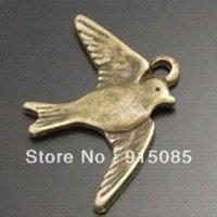 antique style diamond pendant - Whosesale Antique Style Bronze Tone Alloy Flying Bird Pendant Charm Jewelry Finding pendant settings for diamonds