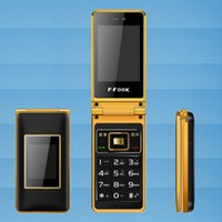 Wholesale mobile cell phone no smart long standby time dual sim card dual standby dual screen flip phone