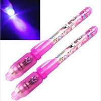 Wholesale Large Invisible Ink Marker with LED Black Light Combo Torch Wedding Party Christmas Celebration Gifts