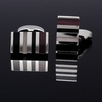 Wholesale SEP Fashion Cufflinks Rhinestone Stripe Cuff Link Men s Shirt Accessories for Clothes CU0002 More Color