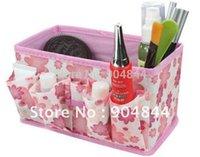 Wholesale color Non woven make up bag cosmetic storage beauty box desktop debris storage case to organize boxes