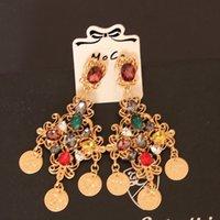 Wholesale luxury Sicily style women s runway earrings vintage gold