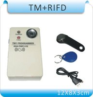 Wholesale Upgrade in TM RFID Copier Duplicator DS1990A iButton TM card duplicator pcsRW1990 RW KHZ EM4305 cards