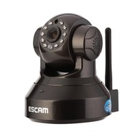 micro sd card wifi - Hot Escam Pearl QF100 P IP Camera wifi US AU EU UK Plug Play P2P Tilt IR Cut Two Way Audio Micro SD Card