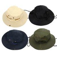 Wholesale 2015 NEW Colors Outdoor Cotton Fishing Camping Hiking Sun Cap Round Rim Men Women Hat Quick drying Hat