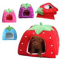 bedding products - 2015 Cat Beds Accessories Cat bed Strawberry nest Beds for Dogs Cats Rabbits lamb pet nest pet products