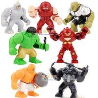 venom - Super Hero Avengers Mini Figures Thing Hulk Buster Venom Rhino DIY Building Blocks Bricks Toy High quality Free Ship