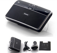 Wholesale Wireless Handsfree Bluetooth Speakerphone Auto Car Kit Stereo With Car Charger Supports GPS MP3 Audio