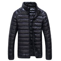 batik jacket - Hot Sale Men White Duck Down Jacket Fashion Casual Sports Ultra Light Thermal Travel Pocketable Portable Thin Down Coats Outerwear