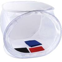 achat en gros de photo boîte de tente-DHL libre 50 * 50 * 50cm Pliable Photo Studio Light Box souple Tente tournage Cube Softbox pour appareil photo