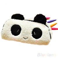 apple cosmetic bags - Panda Soft Plush Pencil Case Pen Pocket Cosmetic Makeup Zipper Bag Pouch Gift Q3