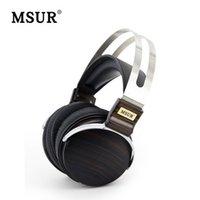 beryllium alloys - High End MSUR N650 HiFi Wooden Metal headphone headset earphone with Beryllium alloy driver and portelain leather cushion