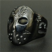 african mask design - 1pc Newest Design Black Mask Ring L Stainless Steel Fashion Jewelry Men Boy Band Party Skull No Mask Ring