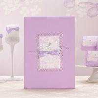 Wholesale Lilac Wedding Guest Book Wedding Guestbook Wedding Decoration Wedding Souvenirs Event Party Supplies CS003