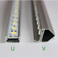 bar cabinets - 5050 LED Bar Light White Warm White LED M SMD Cabinet LED Rigid Strip DC V Showcase LED Hard Strip