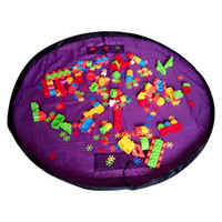 Cheap Portable Kids Play Mats Nylon 59 inch Folding Round Storage Bags On Walls Dolls Toy For Baby Best Selling