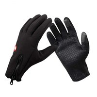 Wholesale Black Windstopper Simulated Leather Windproof Soft Warm Outdoor Gloves M L XL WG298