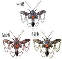 beetle watches - Victorian Khepri Scarab Beetle Watch Clock Hand Gear Cog Steampunk Necklace Jewelry HJIA135