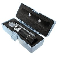 Wholesale hand held RSG ATC Black Brix Beer Sugar Wine Wort Wine milk Refractometer Tools Set