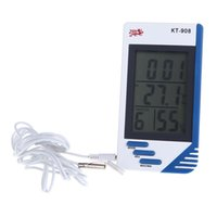 Wholesale 3 in Digital Temperature Humidity Tester Clock Hygrometer Thermometer dropshipping