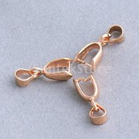 Wholesale Brass Pendant Pinch Bails mm Rose Gold