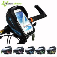 Wholesale 2015 ROCKBROS Bike Bag Colors EVA PU Touch Screen MTB Road Cycling Bicycle Top Front Tube Frame Handlebar Bag For Cell Phone