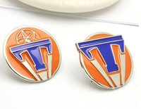 China-Miao brooch sale - 2016 NEW HOT SALE Film TOMORROWLAND letter quot T quot ALLOY Drops Brooches Pins Best gfit HH64