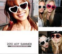 Wholesale New style heart sunglasses fashion women peach heart sunglasses star same multicolor