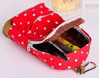 plastic pencil box - Fashion Hot Stationery Multifunctional big capacity pencil case Dot school bag pattern Cute storage box