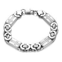 beaded chain suppliers - titanium steel bracelet men jewelry supplier flat male models thick titanium steel bracelet GS744